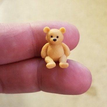"""SMALL BROWN CUTE TINY MINIATURE FELT DOLL HOUSE CRAFT TEDDY BEARS 5/"""" TALL"""