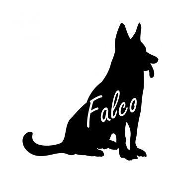 Autoaufkleber Schäferhund mit Wunschname Hundeaufkleber Sticker