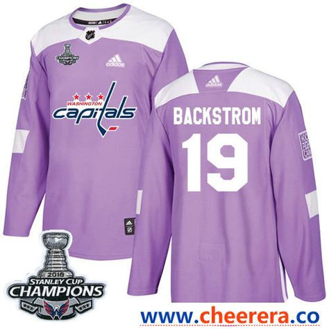 Adidas Washington Capitals  19 Nicklas Backstrom Purple Authentic Fights  Cancer Stanley Cup Final Champions Stitched NHL Jersey ab947eb36