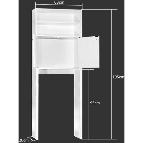 Schrank Kleiderschrank 195 X 63 X 20 Cm Stauraum Fur Blan Storage Bathroom Bathroom Schrank Badezimmer Schrank Waschbeckenunterschrank