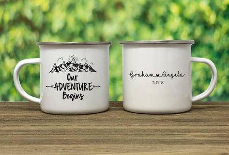 Wedding party Camp mug, wedding favor, campfire mug, personalized camp mug, coffee mug, camping mug,
