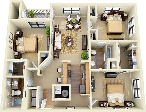 Image for Modern House 3d Blueprints Art Pinterest 3d, Big