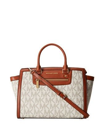 0de809dd4eb394 Michael Michael Kors Signature Large Selma Top Zip Satchel | My Love ...