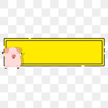 Drawn Pig Hand Year Of The Pig Cute Lovely Piggy Image Auspicious Cartoon Black Solid Line Rec Solid Line Yellow Background Graphic Design Background Templates
