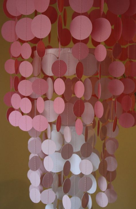 Choose your colors paper chandelier or by PerpetualMotionDecor, $35.00