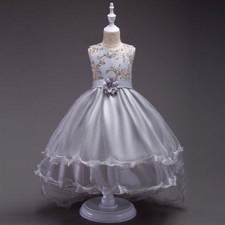 Kids Formal Flower Girl Dress Princess Bridesmaid Party Wedding Pageant Dress