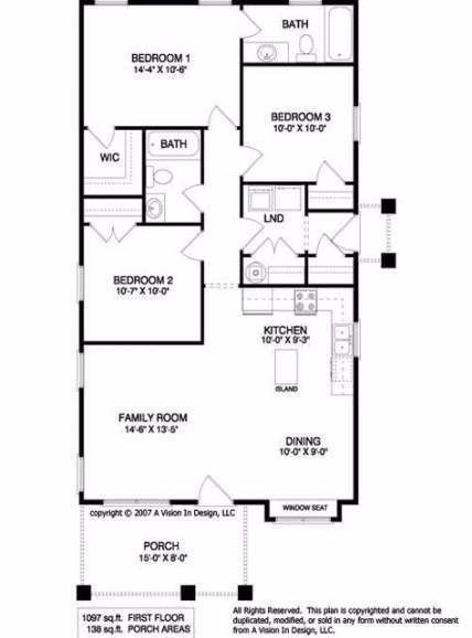 House Plans 1000 Sq Ft 3 Bedroom 26 Super Ideas In 2020 Small House Blueprints Floor Plans Ranch House Plans