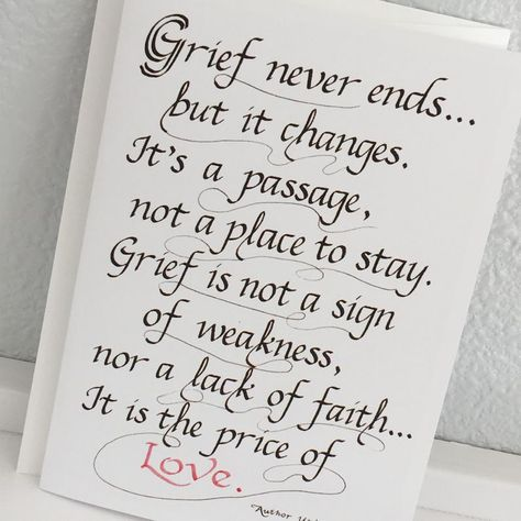 Grief Never Ends But It Changes ItS A Passage Not A Place To Stay Tile /& Stand 6 inch tile