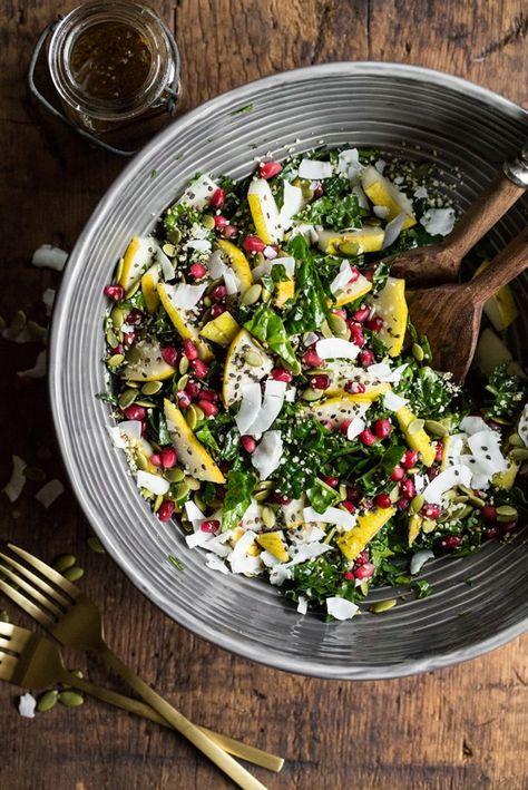 Superfood Crunch Salad with Homemade Balsamic Apple Vinaigrette