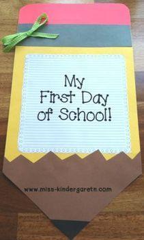 My First Day of School {A Keepsake Book} | Top Teachers