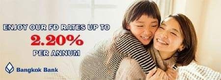 Receive 2 20 P A For Fixed Deposit With Bangkok Bank Singapore