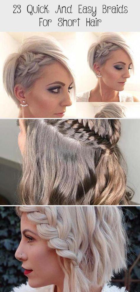 Messy Short Hair + Subtle Side Braid #hairtutorialIllustration #hairtutorialPonytail #hairtutorialWork #hairtutorialWaterfall #1920shairtutorial #BeautifulHairstylesForGirls