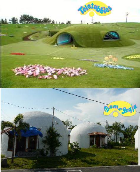 Rumah Dome Yogyakarta Satu Satunya Rumah Teletubbies Yang Ada Di Asia Rumah Dome Yogyakarta Asia