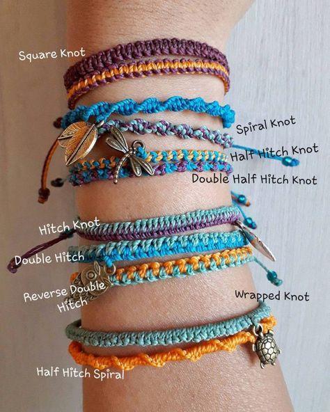 One colorful simple macrame bracelet you choose among 9   Etsy