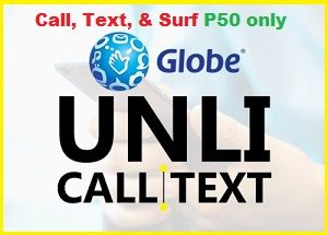 Unli Call Globe 50 Globe Unli Call And Text 3 Days Globe Unli Call Promo That Has Internet Data Allowance Enjoy Calling And Texting Without Text Globe Day