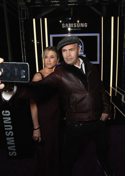Jennifer Aniston and Billy Zane take a selfie as Samsung celebrates the premiere of 'Zoolander 2.'