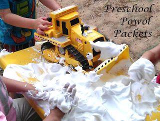 Preschool Powol Packets: Construction Sensory Table