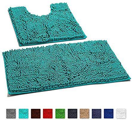 Amazon Com Luxurux Bathroom Rugs Non Slip Super Soft Chenille