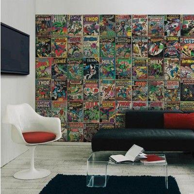 Marvel Comic Cover Peel And Stick Mural Marvel Room Comic Room Marvel Decor