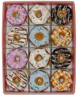 Kurt Adler Set Of 12 Donut Ornaments Macys Com Donut Ornament Xmas Tree Ornament Donut Christmas Tree