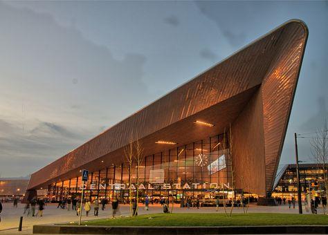 Het nieuwe Centraal Station te Rotterdam
