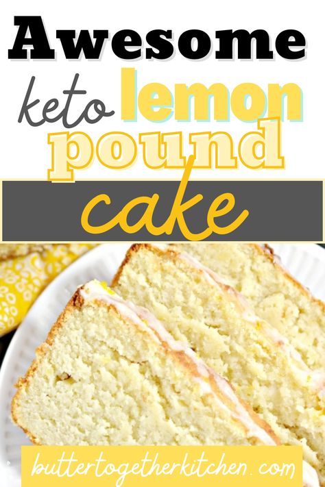 Butter Together Kitchen shares this Keto Lemon Pound Cake that is decadent, moist, zesty, and tangy! In other words, it's everything you want in a lemon pound cake without everything you don't. If you love lemon flavor, you will absolutely love this keto version recipe of lemon pound cake! This pound cake will be one of your family's new favorites! Try it out today! #lemonpoundcake #ketorecipes