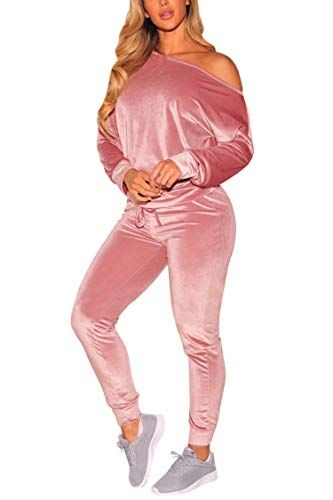 91a0fc1eafed Pin by Masum on Women's Fashion buy now amazon in 2019   Velvet tracksuit,  Velvet jumpsuit, Jogger pants