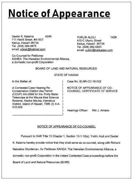 Notice Of Appearance Template Templates Words Excel