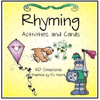 The time is right. Help is in sight! Come take a look, At this rhyming book!  Included in the unit: * printables for a variety of rhyming activities * color copies for center activities * games to reinforce the concepts. #rhyming #kindergarten #languagearts #reading #teacherspayteachers