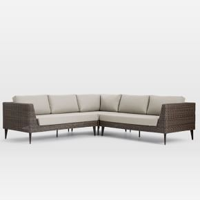 Marina Outdoor 3 Piece L Shaped Sectional Lounge Chair Outdoor 3 Piece Sectional Outdoor Sectional Sofa