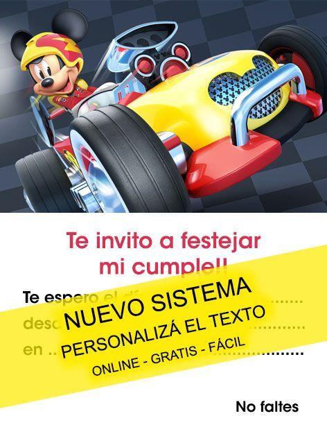 Tarjeta De Cumpleaños De Mickey Aventuras Sobre Ruedas Para