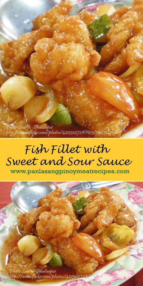 Fish Fillet With Sweet And Sour Sauce Http Www Panlasangpinoymeatrecipes Com Fish Fillet Sweet Fish Fillet Recipe Sweet And Sour Fish Recipe How To Cook Fish