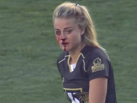 USA Rugby Sevens: Georgia Page has been celebrated on social Female rugby player breaks nose, continues playing, proceeds to tackle two more players