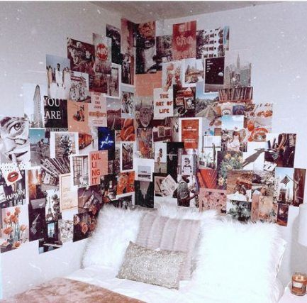 38 Trendy Wall Decored Bedroom College Tumblr Rooms Pictures Picture Wall Bedroom Dormitory Room Photo Walls Bedroom