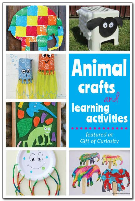 10 animal crafts and learning activities from the Weekly Kids' Co-op #giftofcuriosity #artsandcrafts || Gift of Curiosity