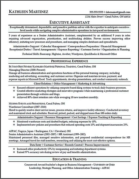 Updated Resume of Executive Assistant Jobs and Resume - senior administrative assistant resume