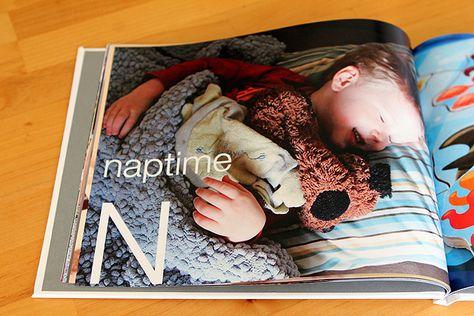 make your own alphabet book using your photos