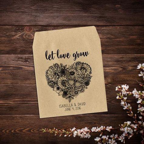Bridal Shower Favors, Wedding Seed Packets, #seedpackets #seedfavors #weddingfavors #weddingseedfavor #wildflowerseeds #letlovegrow #weddingseedpackets #rusticwedding #bohowedding #seedpacketfavor #rusticfavor #flowerseedpacket #bridalshowerfavors
