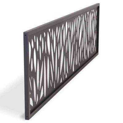 Decor Feuille Aluminium Neva Anthracite Panneau De Cloture Lambris Castorama