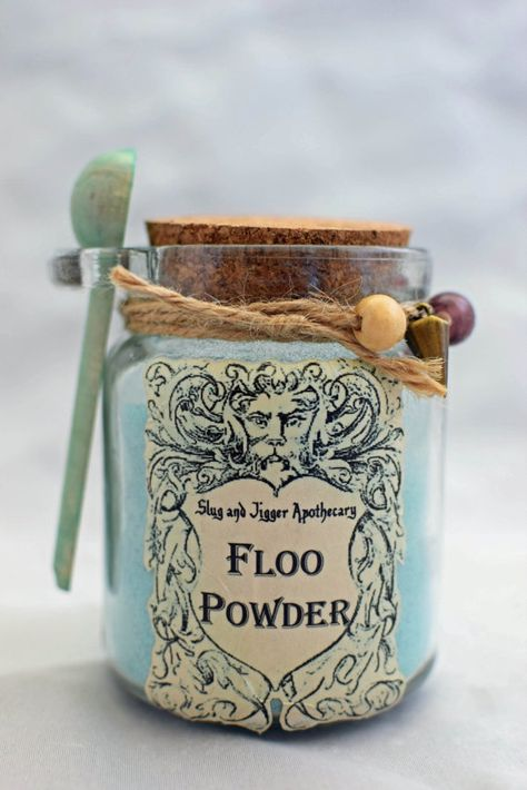 FLOO POWDER  Decorative Harry Potter Glass Jar of by GrimSweetness