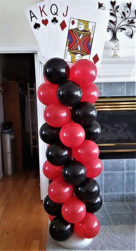 "Casino Theme Balloon Columns ""Party Rentals"" ""PJs Rentals"" ""Rental Images"" ""Party Equipment"" ""Event Rentals"" ""Balloon Delivery"" ""Balloon Decor"" ""Ballo"