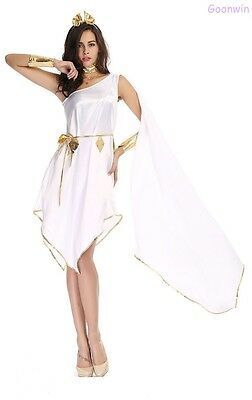 Ladies Cleopatra Egyptian Roman Greek Goddess Fancy Dress Halloween Costume