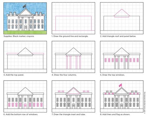 Draw the White House · Art Projects for Kids