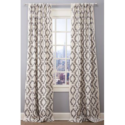 Emdee Pompei Ikat Rod Pocket Single Curtain Panel Curtain Color