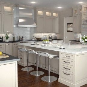 Modern White Shaker Kitchen chief architect community library - library | cabinets and cabinet