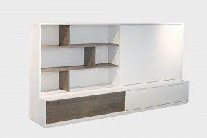 Tv Meubel Lak Wit.Shift Tv Kast Lak Wit Ral 9010 Eiken Fineer Old Grey Designsales