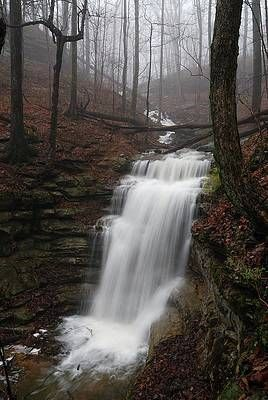 Monte Sano Waterfall by Jeff Schreier Photography
