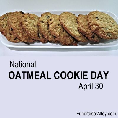 National Oatmeal Cookie Day April 30 In 2020 Oatmeal Cookies Food Chinese Almond Cookies