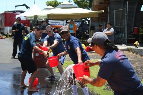 Firefighters muster for heated competition