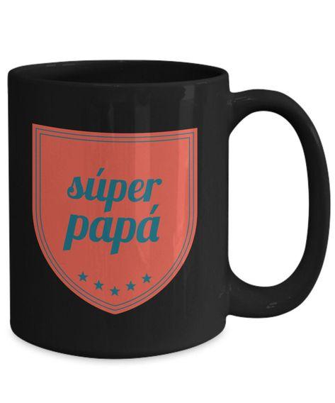 Excited to share the latest addition to my shop: Regalo para papa taza de cafe padre vaso, feliz dia del padre, dia de los padres coffee mug inspiradoras, taza con mensajes positivos. #housewares #fathersday #regaloparapapa #padre #tazadecafe